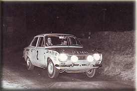 Cec Offley & Don Barrow on the 1971 Oslo Trophy in his brothers car CFM 342G