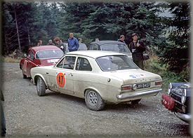 1968 RAC - 3rd Overall behind the Works SAABs - As private Entrants - Ford Escort MK1 Twin Cam LWH 845F - Clinching for Ford the European Rally Championship