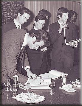 Motoring News Championship 1969 presentation - L-R Don Barrow, John Seal (Castrol), Nigel Raeburn & George Hill